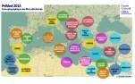 carte géographique des films PriMed2014