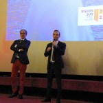 Award ceremony - Cinéma Le Prado - J. Cathala and L. Perney