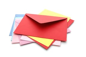 Colourful envelopes