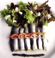 CiCou-Marinated Sardines, Goat Cheese, Mesclun Salad