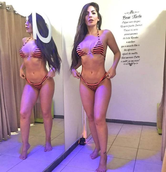 Ex-BBB Anamara dá levantadinha em calcinha e exibe corpo escultural