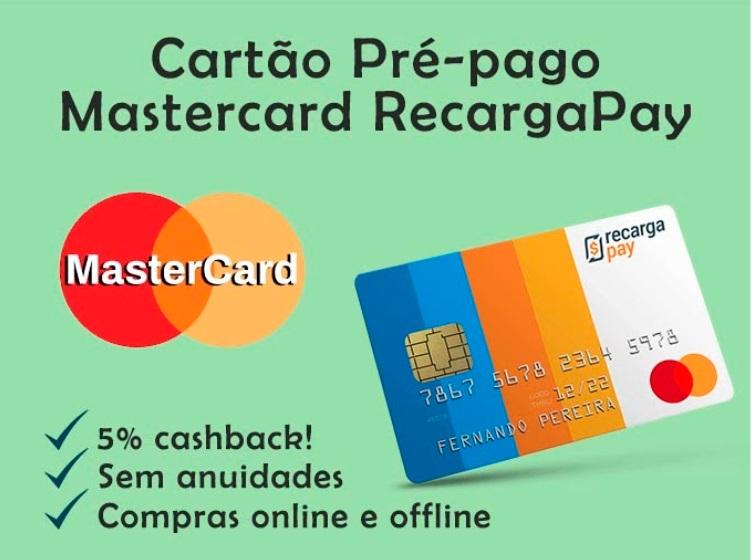 Cartão Pré-pago Mastercard RecargaPay