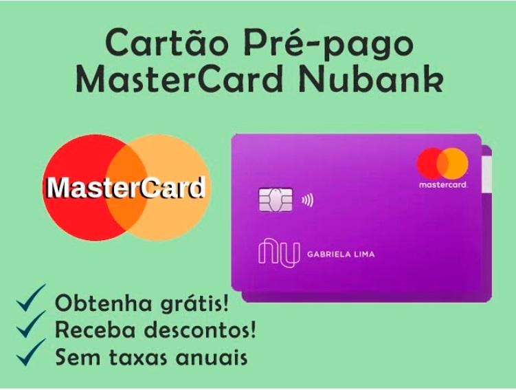 Cartão Pré-pago Mastercard Nubank