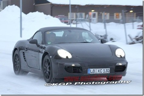 Mula do novo Porsche Boxster é flagrada