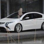 Imagens espia do Opel Ampera sem disfarces
