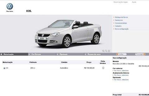 VW Eos já aparece no site da montadora