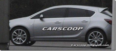 Nova imagem espia do Opel Astra