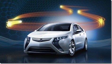 Primeira imagem oficial do Opel Ampera