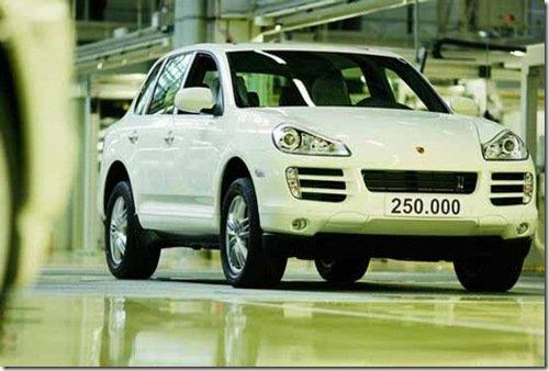 Porsche Cayenne alcança 250.000 unidades produzidas