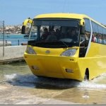 Foi apresentado na europa, o primeiro ônibus anfíbio