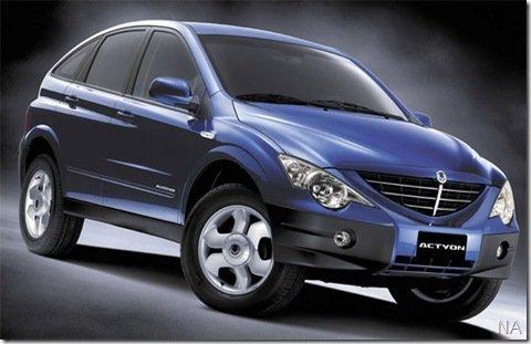 SsangYong aumenta sua gama de veículos com o lançamento do Actyon à gasolina