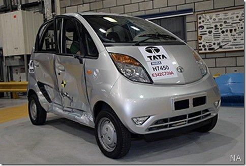 Tata Nano é aprovado em crash test europeu