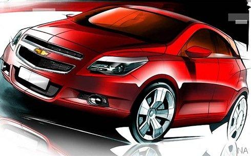 Chevrolet divulga esboços do Agile