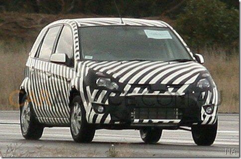 Novo compacto da Ford é flagrado na Austrália