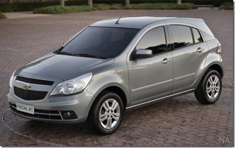 Primeira imagem oficial do Chevrolet Agile
