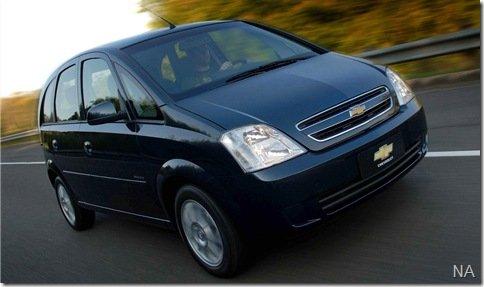 Chevrolet Meriva e Celta tem vendagem recorde em julho