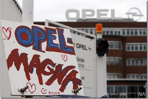 GM venderá Opel à alemã Magna