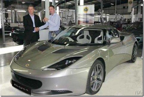 Primeira unidade do Lotus Evora é entregue no Reino Unido