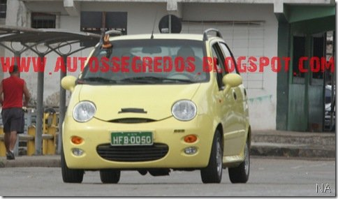 Chery QQ é testado pela Engenharia da Fiat em Betim