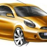 Nissan revela esboços do novo Micra