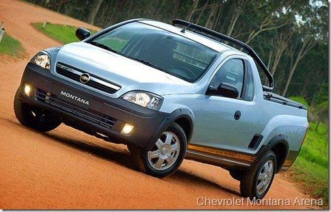 Chevrolet lança Montana Sport e Arena 1.4