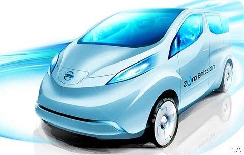Nissan revela teaser de futura van elétrica