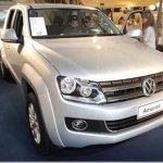 Volkswagen Amarok está em esposição em shopping do Guarujá