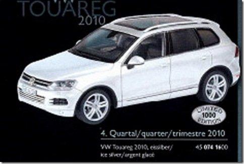 Miniaturas revelam como será o Touareg 2011