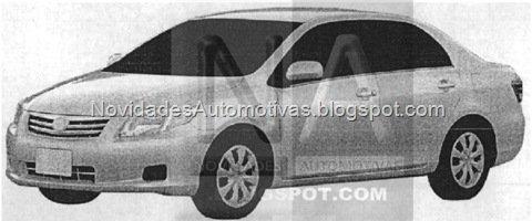 Imagens de como pode ficar o Toyota Corolla em 2011