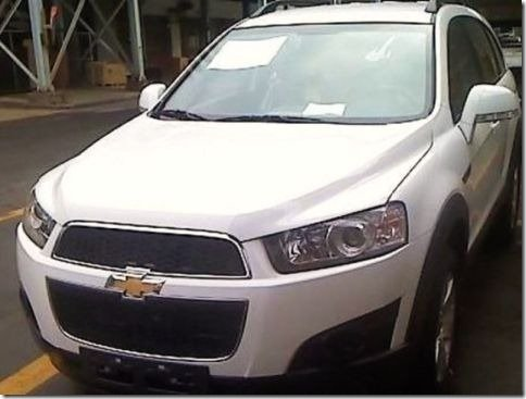 Chevrolet Captiva reestilizada é flagrada na Coréia do Sul