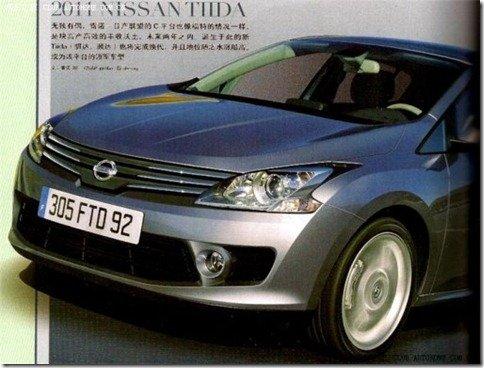 Nissan prepara novo Tiida sobre a base do Mégane