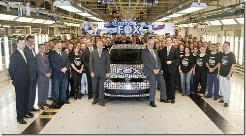 Volkswagen atinge marco de 1 milhão de Fox produzidos