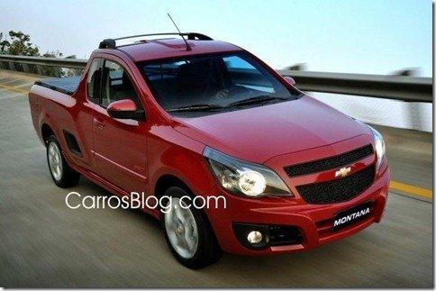 Nova Chevrolet Montana tem primeiras fotos vazadas