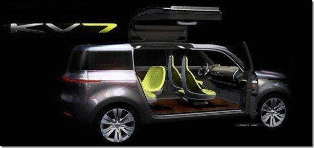 Kia KV7 Concept é mais uma atração do Salão de Detroit