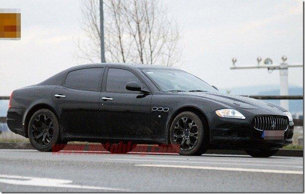 Sedã menor da Maserati é flagrado em testes