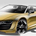 Audi adianta imagens do R8 GT Spyder