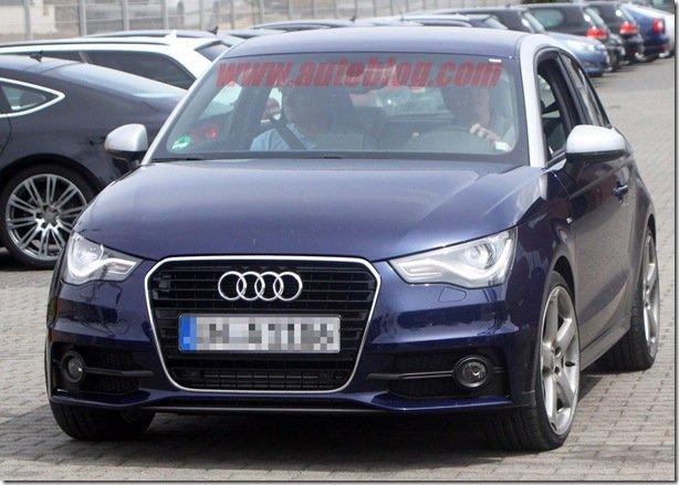 Mula da versão esportiva do Audi A1, a S1 é flagrada em testes