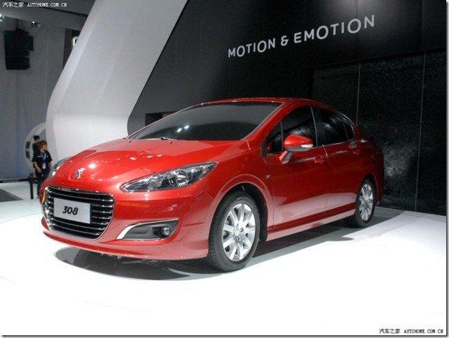 Peugeot lança 308 Sedan na China