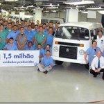 Volkswagen Kombi chega às 1.500.000 unidades fabricadas no Brasil