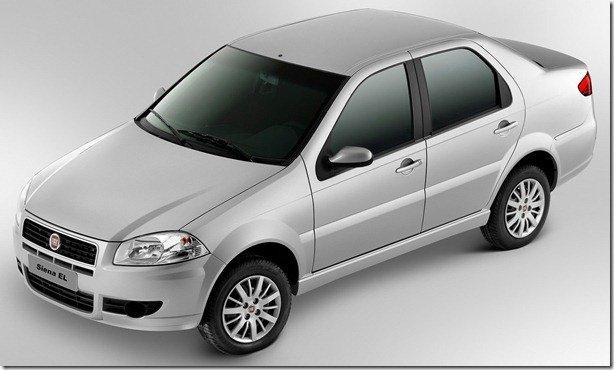 Fiat reposiciona o Siena EL 2012