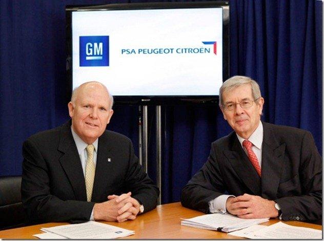 GM compra 7% do grupo PSA