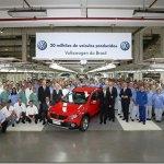 Volkswagen atinge marca de 20 milhões de unidades produzidas no Brasil