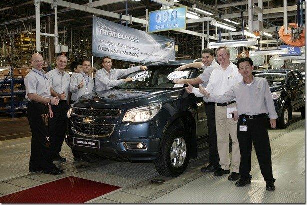 Chevrolet TrailBlazer começa a ser produzida na Tailândia
