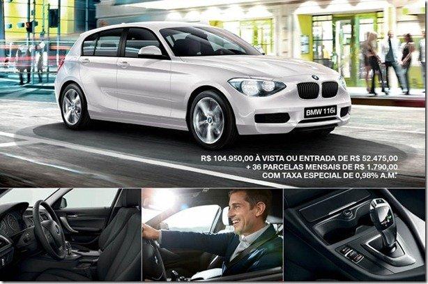 BMW 116i já é vendido no Brasil por R$ 104.950