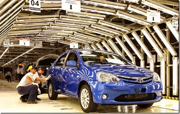 Greve faz produção do Toyota Etios cair em 90%