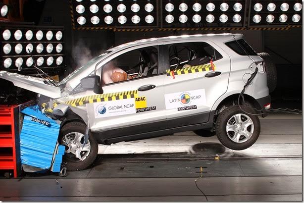 Ford EcoSport, Focus e Volkswagen Jetta ganham 5 estrelas no Latin NCAP