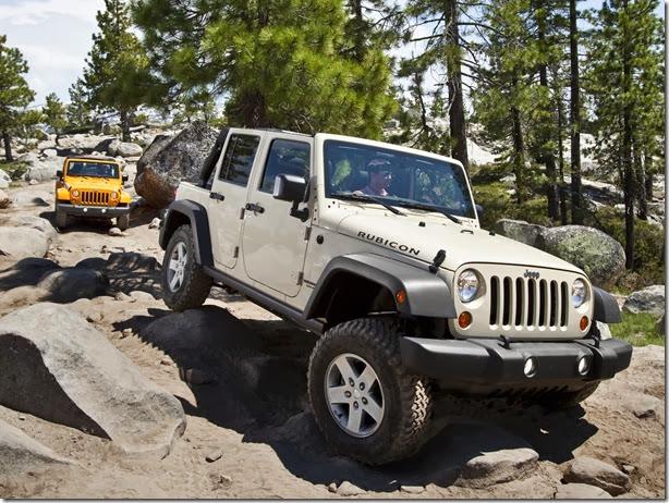 Jeep Wrangler tem 448 unidades convocadas para recall