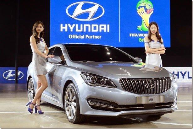 Hyundai mostra Azera reestilizado e novo sedã AG na Coreia do Sul
