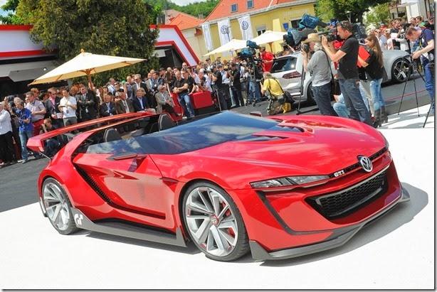 Criado para o Gran Turismo 6, Volkswagen GTi Roadster aparece ao vivo no Wörthersee