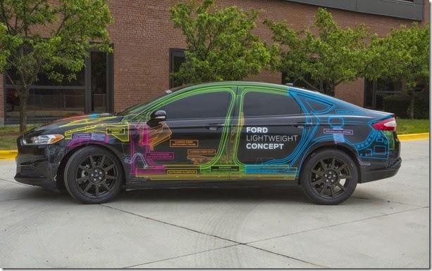 Conceito do Ford Fusion é mais leve que o Fiesta